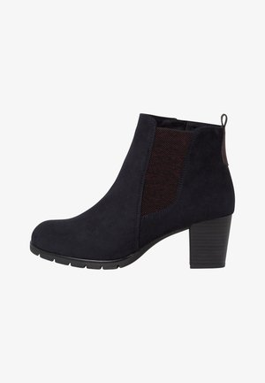 STIEFELETTE - Ankle boots - dk.navy comb