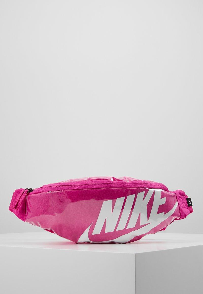 Nike Sportswear - HERITAGE - Bum bag - fire pink/white