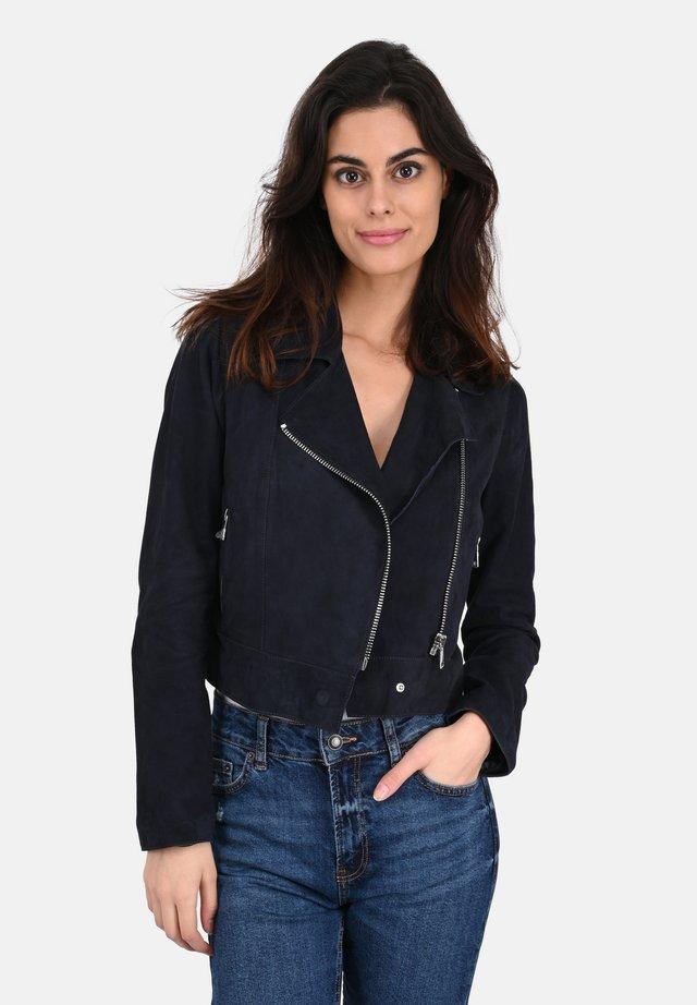 ZULINA  - Leather jacket - navy blue