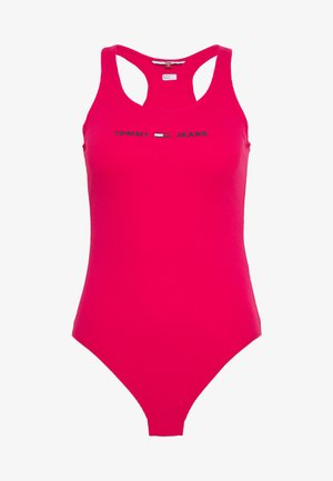 STRAP BODYSUIT - Top - blush red