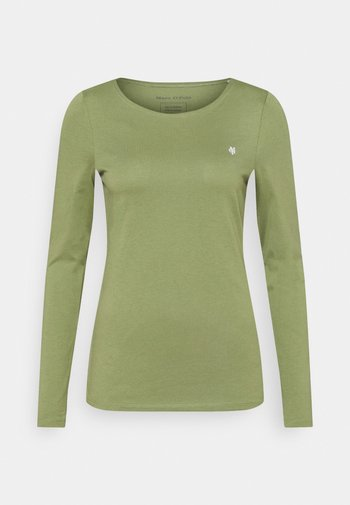 ROUND NECK - Long sleeved top - dried sage