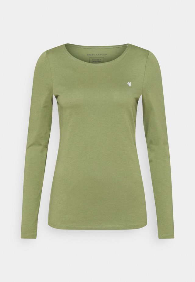 ROUND NECK - Langærmede T-shirts - dried sage