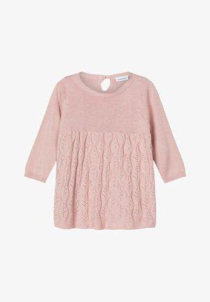 Gebreide jurk - blush