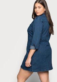 Noisy May Curve - NMLISA ZIP DRESS - Denim dress - medium blue denim - 3