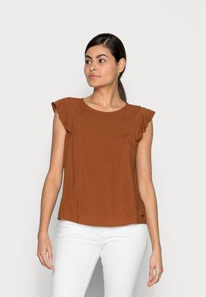 T-shirts print - amber brown
