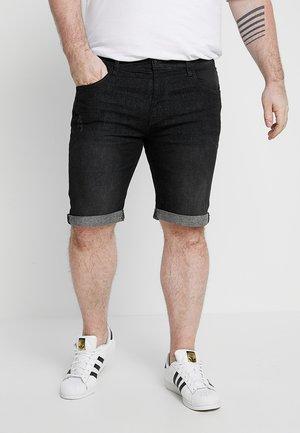 KADEN PLUS - Denim shorts - black