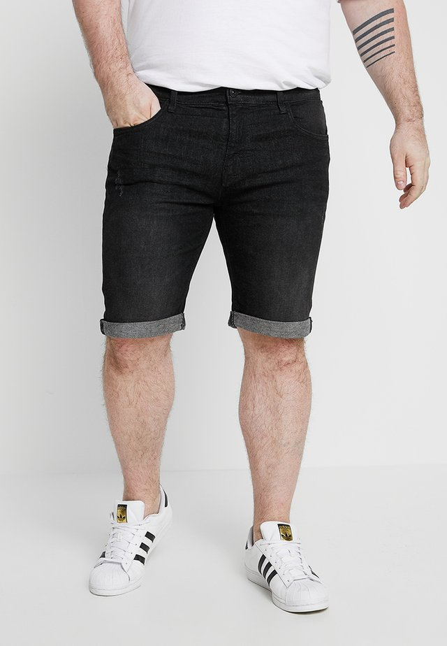 KADEN PLUS - Shorts vaqueros - black