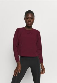 Nike Performance - LUX DRY CREW - Sudadera - dark beetroot/metallic silver - 0
