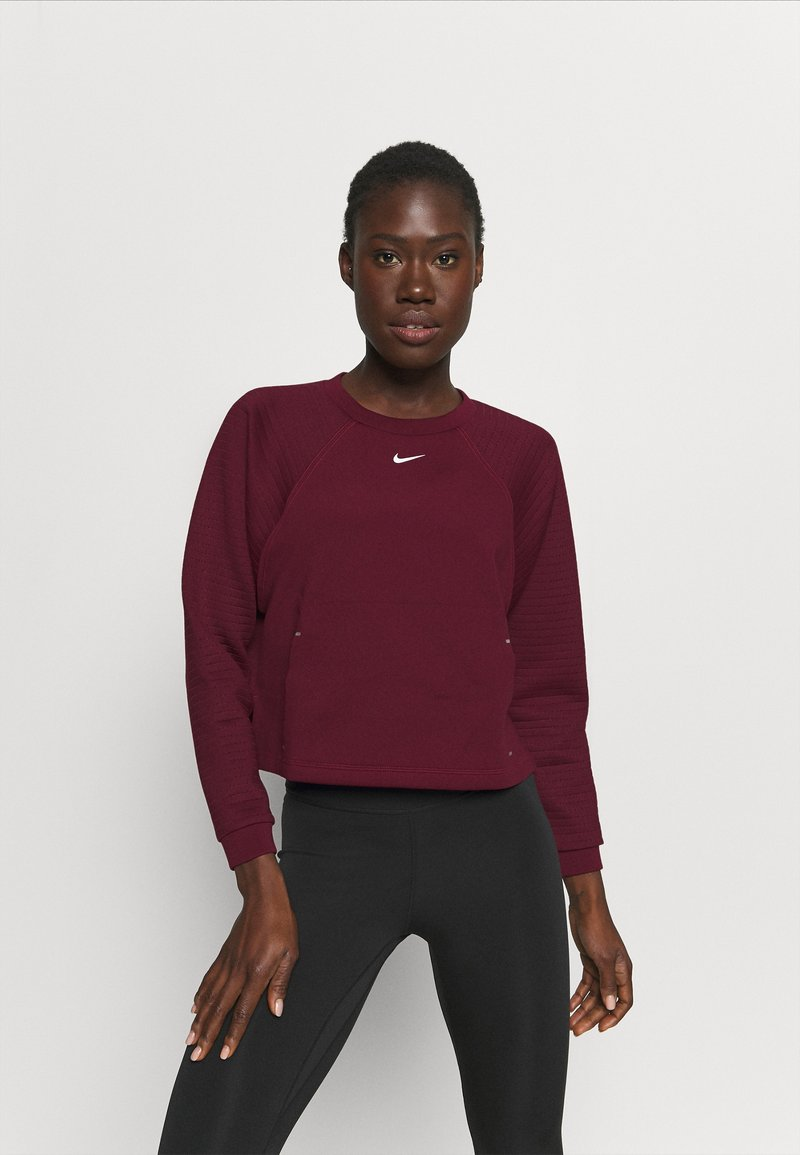 Nike Performance - LUX DRY CREW - Sudadera - dark beetroot/metallic silver