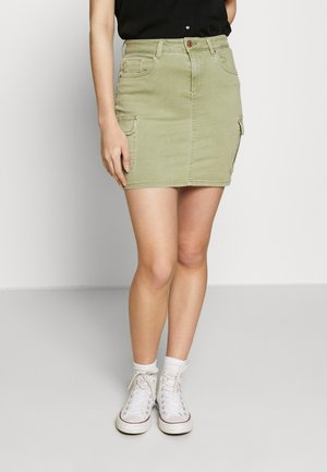ONLMISSOURI LIFE SKIRT - Minisukně - oil green