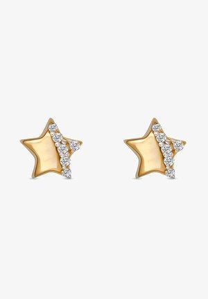 MÄDCHEN-KINDEROHRSTECKER 375ER ZIRKONIA - Earrings - gelbgold