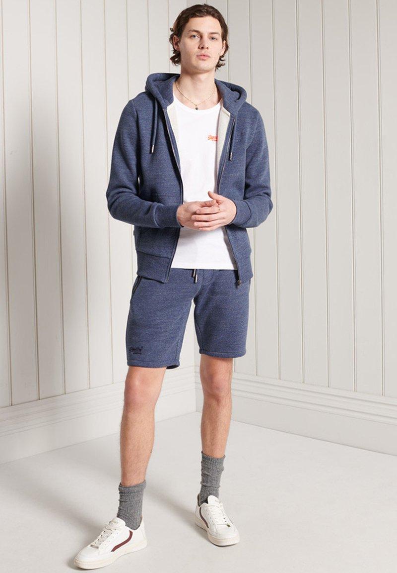 Superdry - LABEL CLASSIC - Zip-up sweatshirt - dark blue