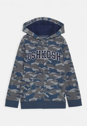 ZIP HOODIE - veste en sweat zippée - blue/khaki