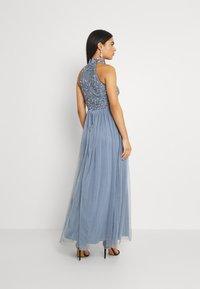 Lace & Beads - SEREN MAXI - Maxikjole - dusty blue - 2