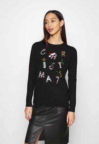 Fashion Union - CHRISTMAS CONVERSATIONAL - Jumper - black - 0