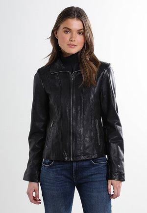 LEDERJACKE - Leather jacket - black