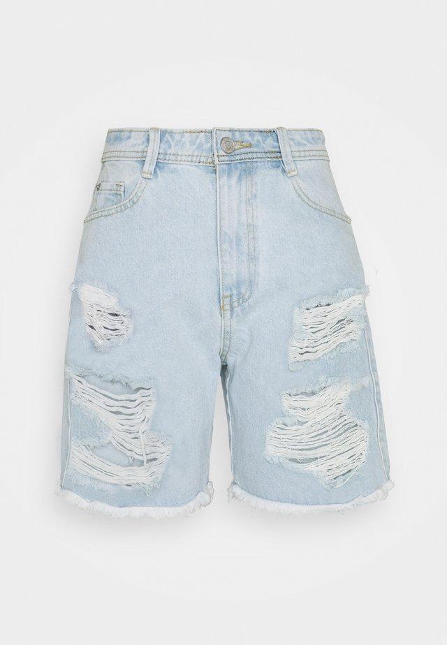 EXTREME  - Denim shorts - blue