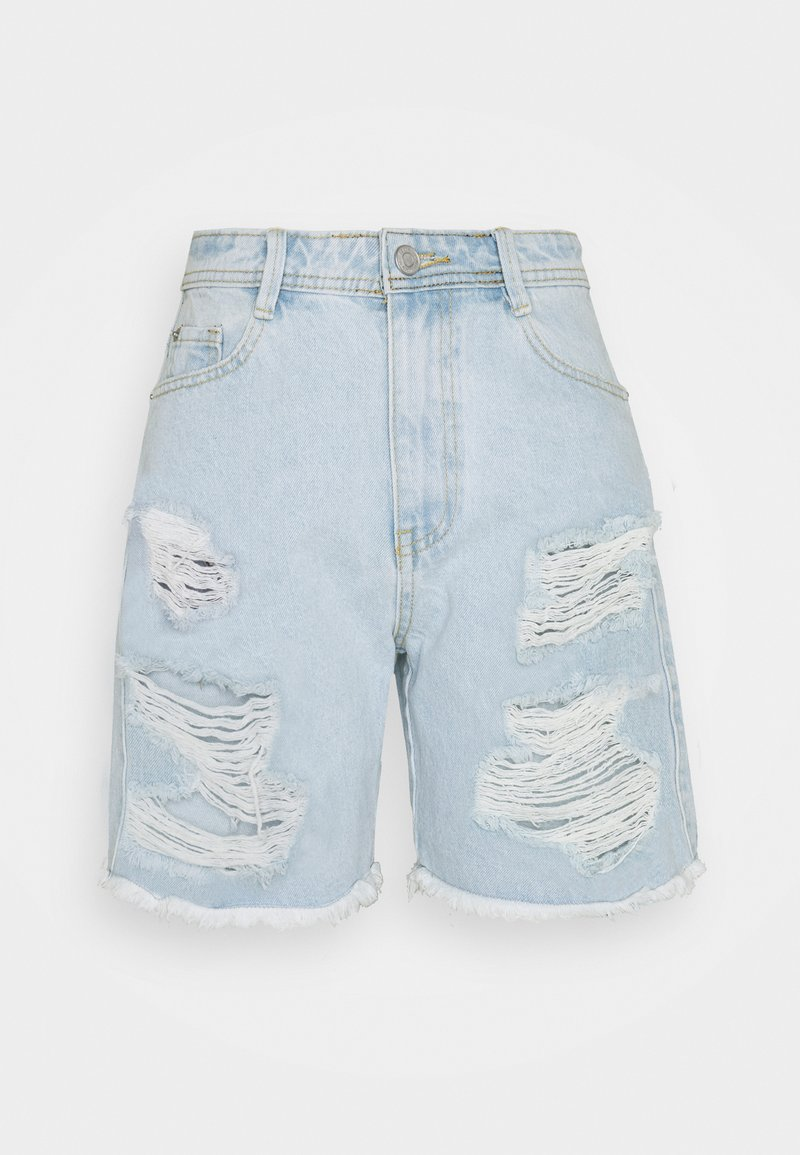 Missguided Petite - EXTREME  - Shorts di jeans - blue