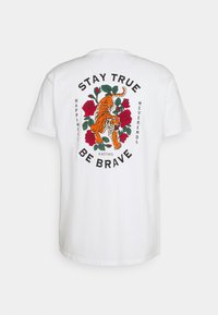 Kaotiko - STAY TRUE WASHED UNISEX - Print T-shirt - white - 1