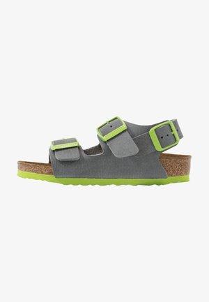 MILANO - Sandály - grey/green
