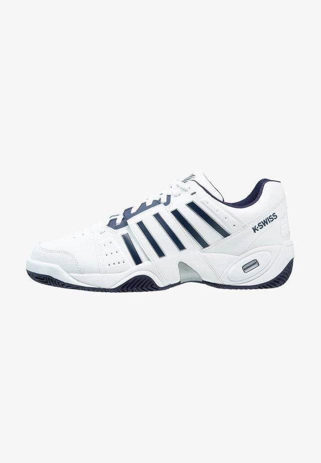 ACCOMPLISH III - Chaussures de tennis toutes surfaces - white/navy