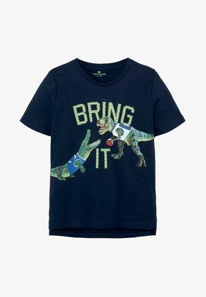 T-shirt print - kids dress blue