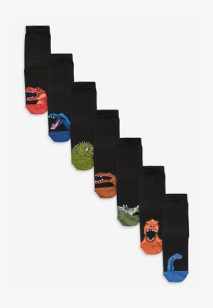 7 PACK  DINO  - Calcetines - black