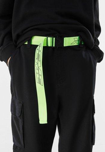 MIT SLOGAN - Belt - neon green