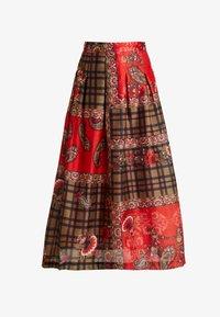 Derhy - OBERO - A-snit nederdel/ A-formede nederdele - red - 3