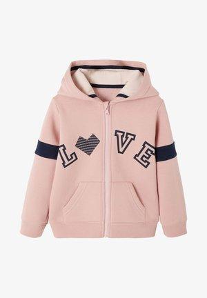 Zip-up sweatshirt - lachsfarben