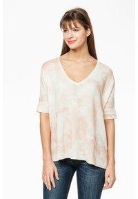 Rosa & Me - Print T-shirt - braun/weiß - 0