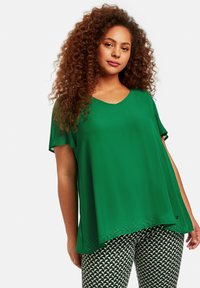 Samoon - Blouse - leaves green - 0