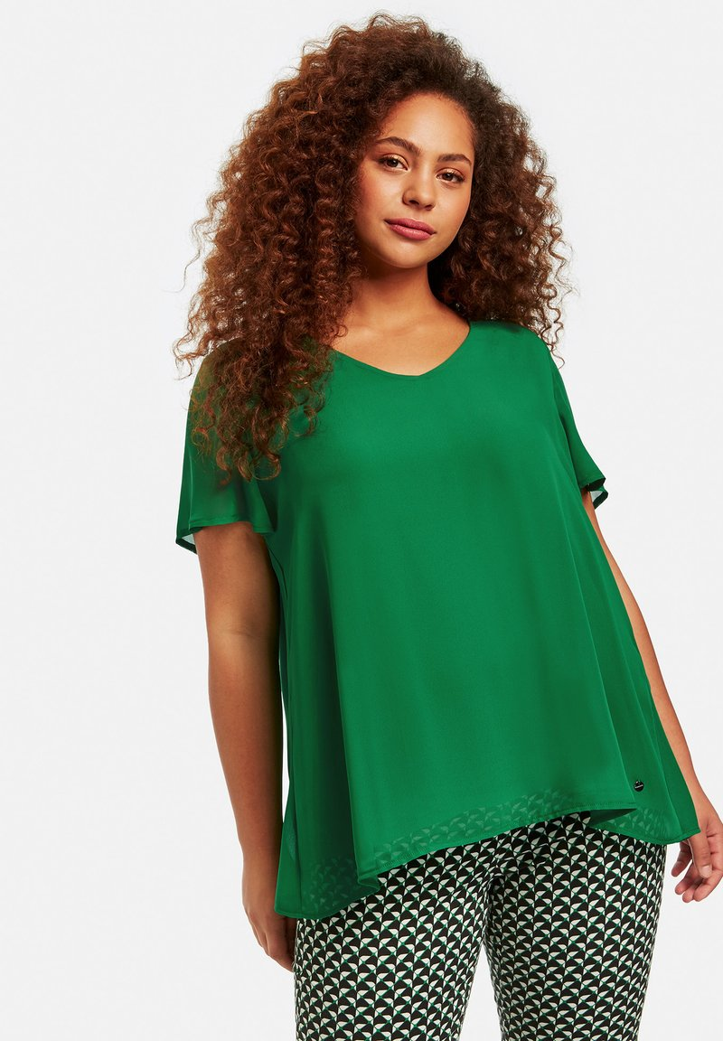Samoon - Blouse - leaves green