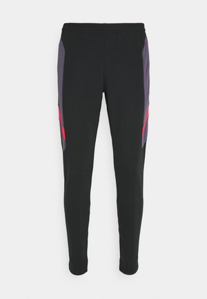 DRY ACADEMY PANT  - Verryttelyhousut - black/dark raisin/siren red