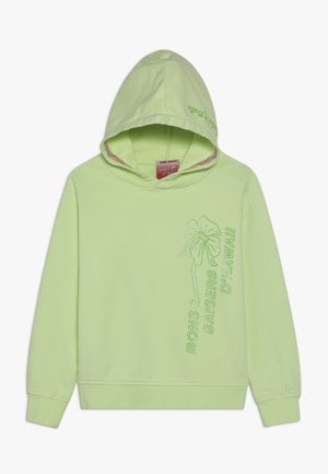 LOOSE FIT GARMENT DYE HOODY WITH SPORTY ARTWORKS - Mikina s kapucí - retro lime