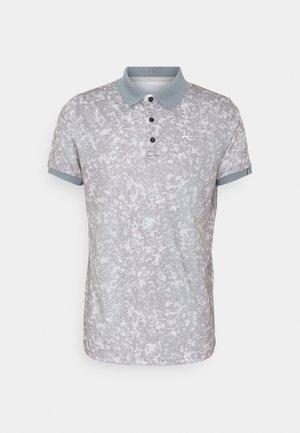 MEN SPOT PRINTED - Poloshirt - steel grey/silver fog