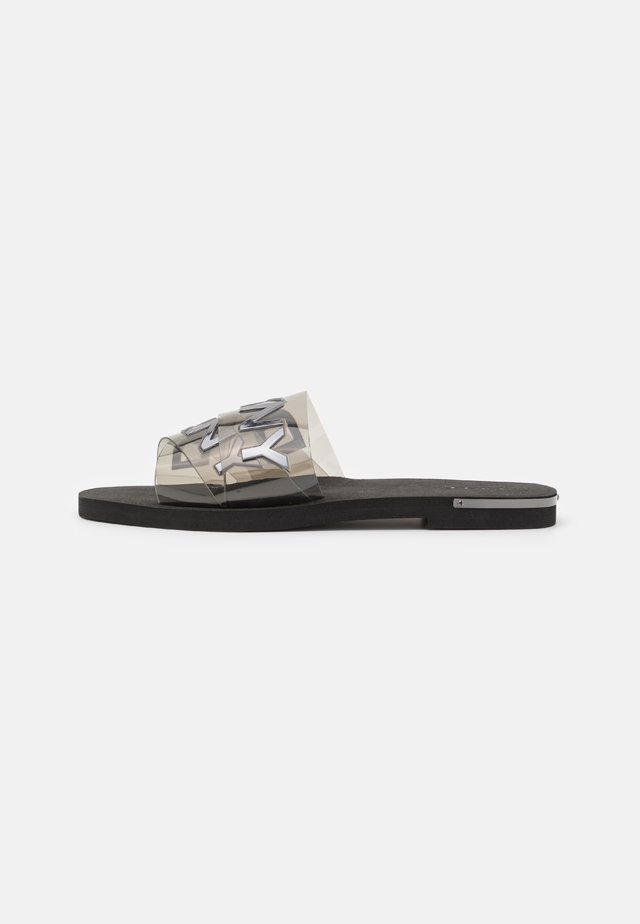 LOGO FLA SLIDE - Mules - smoke black
