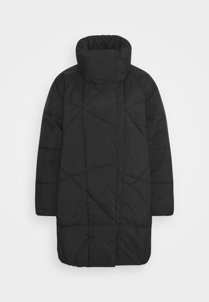 HIGH NECK JACKET - Winter coat - black