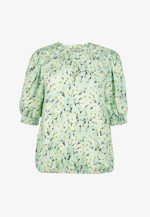 VINTAGE DAISY FLORAL PRINT  - Blusa - green