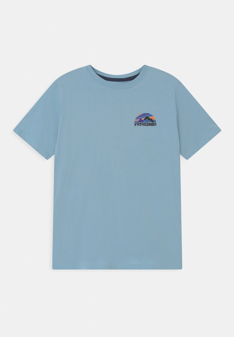 Patagonia - BOYS GRAPHIC UNISEX - Print T-shirt - sky blue