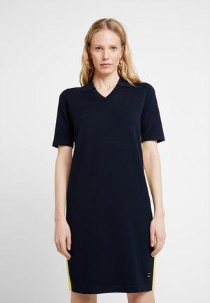 DRESS SIDE STRIPE - Strikket kjole - blue night sky
