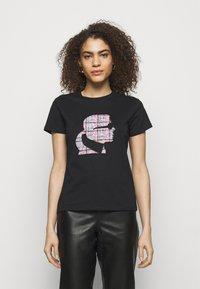 KARL LAGERFELD - BOUCLE PROFILE  - Print T-shirt - black - 0