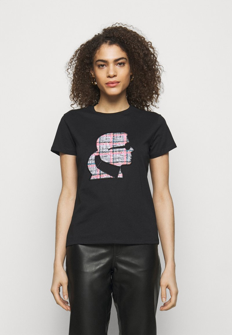 KARL LAGERFELD - BOUCLE PROFILE  - Print T-shirt - black