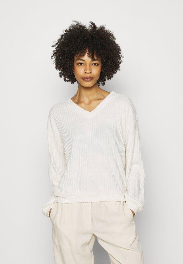 Sweter - creme beige melange