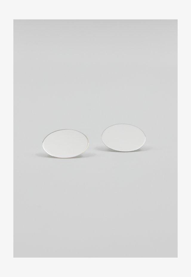 CIRCLE SMALL - Boucles d'oreilles - silver-coloured