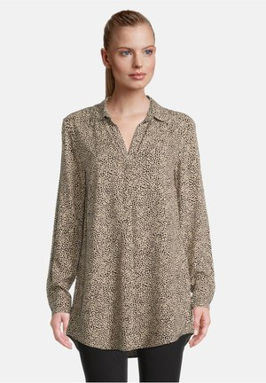Pitkähihainen paita - black/camel