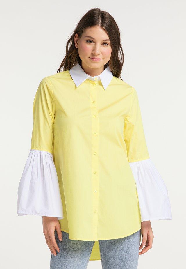 Button-down blouse - zitrone