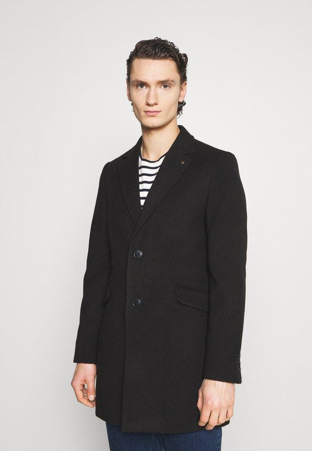 FAUX BUTTON - Cappotto corto - black