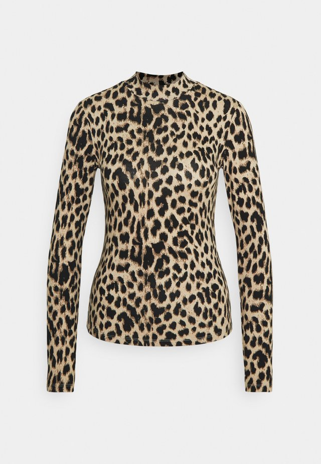 SAMERA SKIVVY NECK LONG SLEEVE - Long sleeved top - leoopard