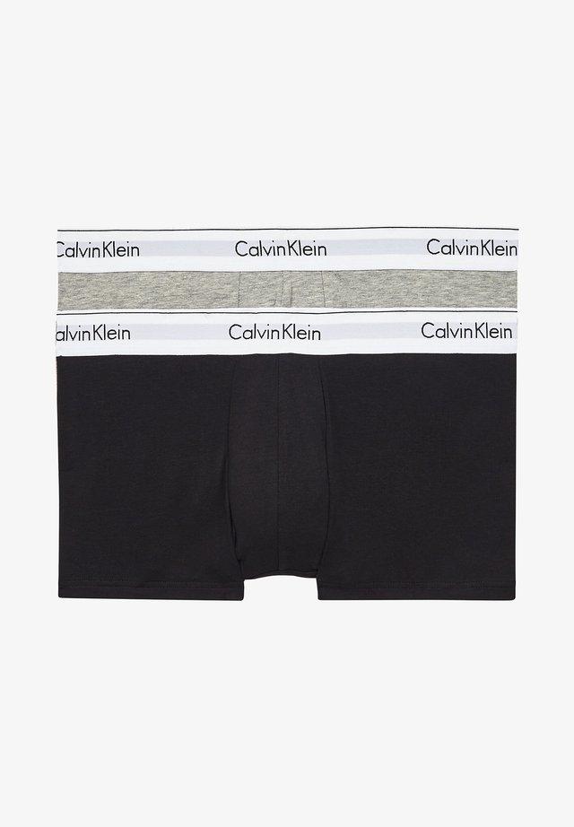 2 PACK - Pants - black/grey heather